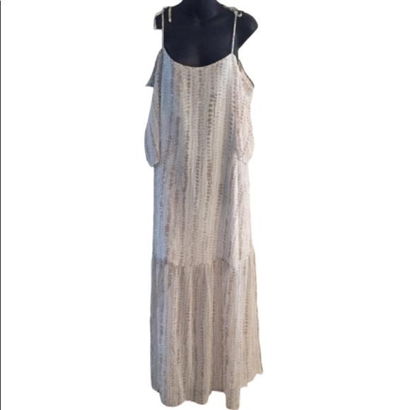 BCBGeneration Dresses & Skirts - BCBGeneration Maxi Off The Shoulder Tiered Dress
